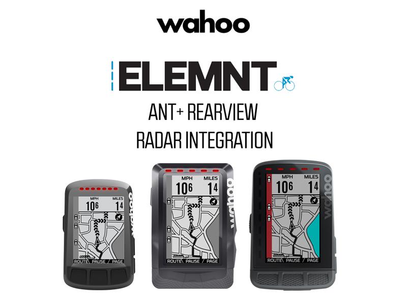 【ファームウエアアップデート】Wahoo ELEMNT(ワフー エレメント)とGARMIN(ガーミン)ANT+リアビューレーダー インテグレーションのお知らせ