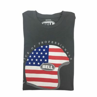 BELL オリジナルTシャツ CAP'N AMERICA チャコール Mサイズ