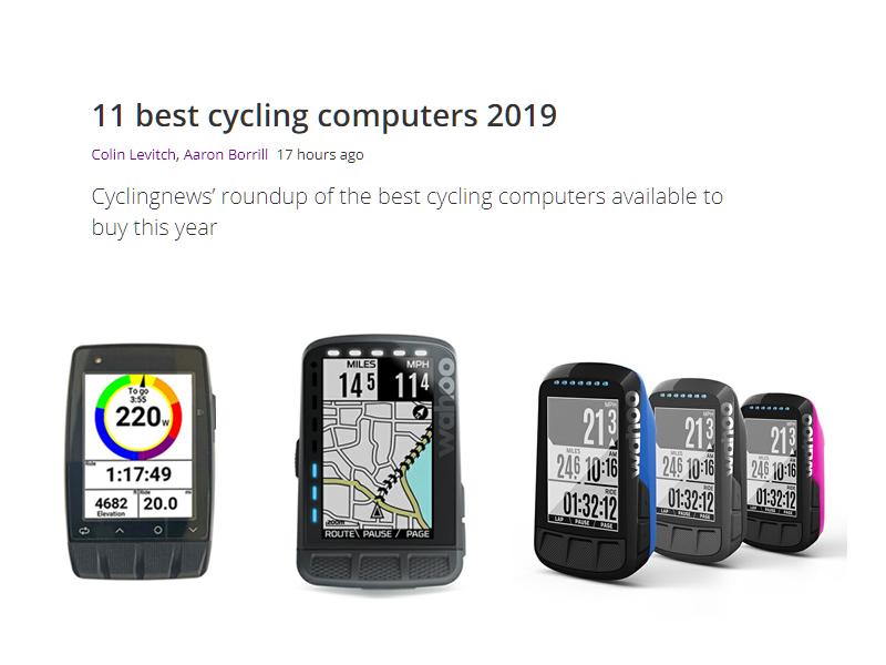 2019年のベストサイクリングコンピューターの中にランクイン!