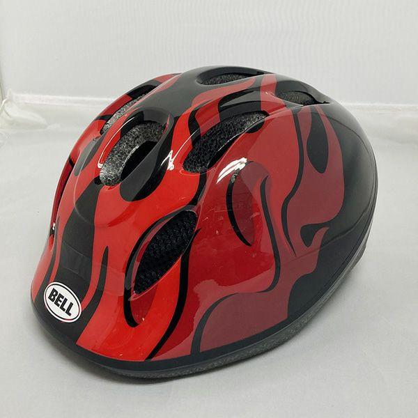 ZOOM2(ズーム2) 子供用ヘルメットブラック/レッド フレイムス XS/S